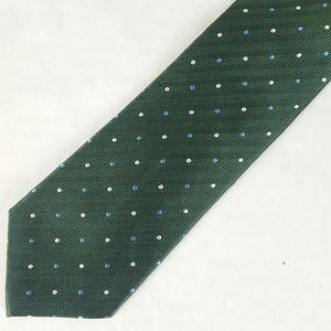 Banana Republic Stain Resistant Green Silk Necktie